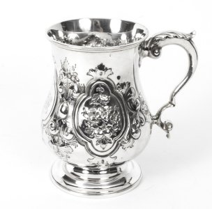 Antique Victorian Silver Plated Mug TH &amp S C1880