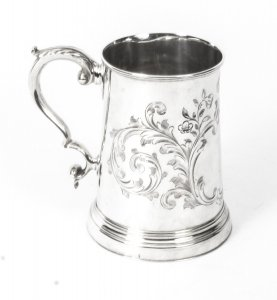 Antique Victorian Silver Plated &amp Engraved Mug C1870