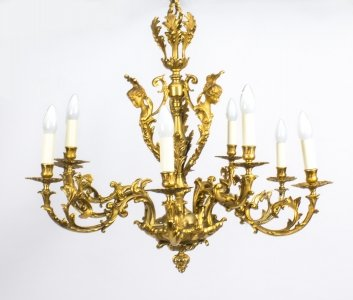 Antique French Louis XIV style nine branch ormolu chandelier 19th Century | Ref. no. 08253 | Regent Antiques
