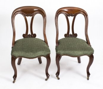 Antique Pair Victorian Mahogany Fiddle Back Side Chairs  c.1850 | Ref. no. 08327a | Regent Antiques