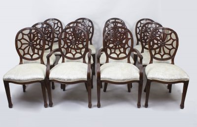 Set 12 English Spyder Back Dining Chairs | Ref. no. 08440 | Regent Antiques