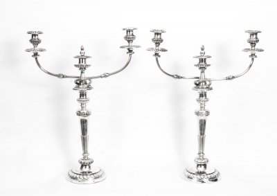 Antique Pair George III 3Light Candelabra Matthew Boulton 1784