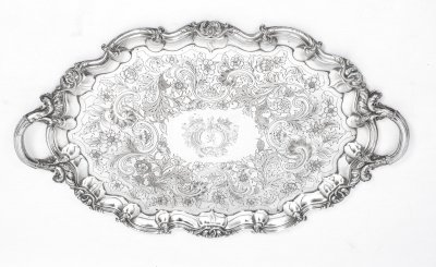 Antique George III Old Sheffield Tray by Cresswick 1811