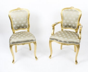 Bespoke Set Of Giltwood Dining Chairs In The Louis Xvi Style Available To Order