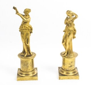 Pair of Antique French Ormolu Classical Maidens | Bronze dancing maidens | Ref. no. 08611 | Regent Antiques