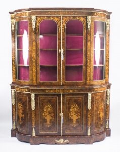 Antique Victorian Ormolu Mounted Burr Walnut Floral Marquetry Cabinet 19thC | Ref. no. 08645 | Regent Antiques