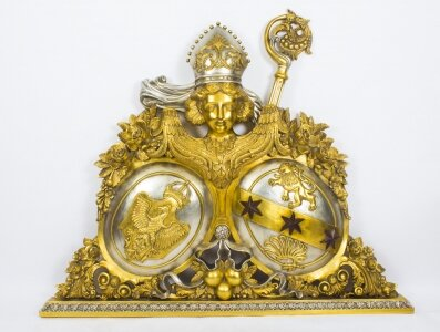 Heraldic Hapsburg Carved Giltwood  Papal Coat of Arms  20th C | Ref. no. 08762 | Regent Antiques