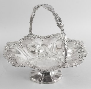 Antique Victorian Silver Plated Fruit Basket Henry Waterhouse London