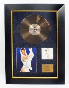 Kylie Minogue Signed CD Gold Disc Fever Framed and Glazed