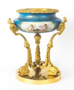 Antique Gilt Bronze &amp Sevres Porcelain Centrepiece 19th Century
