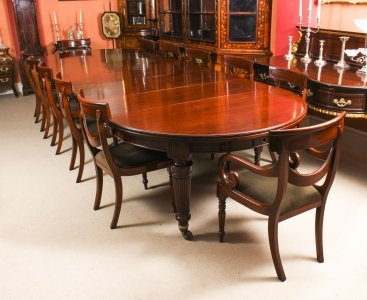 Antique Victorian Extending Dining Table C1870 &amp 12 Bespoke Swag Back Chairs