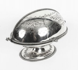 Antique English Silver Plated Roll Over Butter Dish 19th Century | Ref. no. 09093 | Regent Antiques