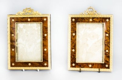 Antique Pair French Amboyna & Ormolu Photograph Frames 19th C | Ref. no. 09151 | Regent Antiques