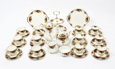 Royal Albert 12 Place Tea &amp Coffee Service Set Mid 20th Century