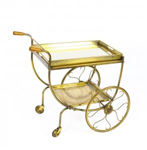 Antique French Modernist Gilded  Drinks Serving Trolley Mid Century | Ref. no. 09451 | Regent Antiques
