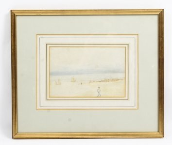 Antique Watercolour by R. E. Walker 19th Century in Date