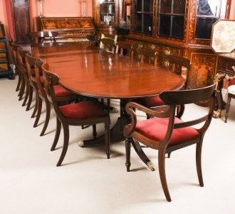 Antique Regency Revival Mahogany Dining Table &  12 Chairs 19th C | Ref. no. R0042a | Regent Antiques