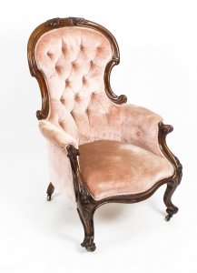 Antique Victorian Mahogany Spoon Backed Armchair 19th Century | Ref. no. R045 | Regent Antiques