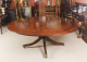 Vintage 194cm Diam Mahogany Jupe Dining Table &amp Leaf Cabinet. Mid 20th C