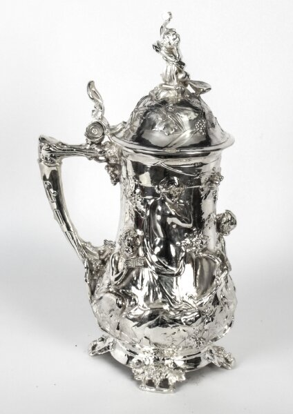 Antique  Large Silver Plated Beer Stein Art Nouveau Circa 1920 | Ref. no. 00103 | Regent Antiques