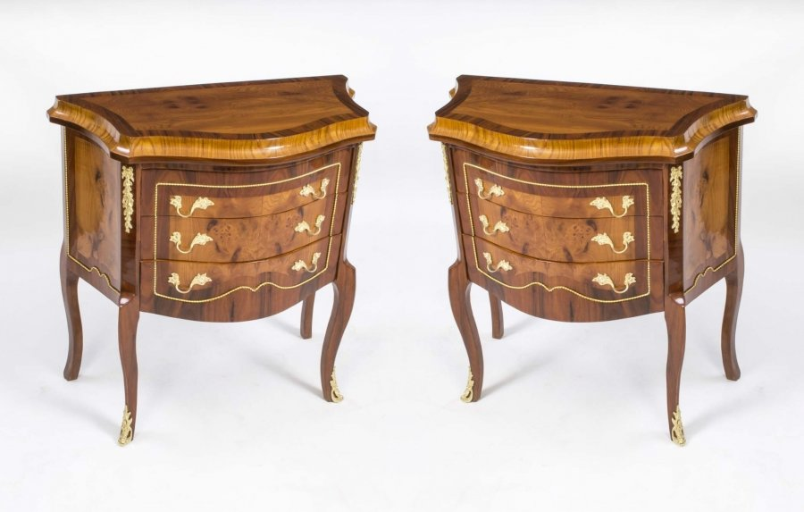 Pair Milanese Walnut & Rosewood Commodes Drawers | Ref. no. 00148 | Regent Antiques