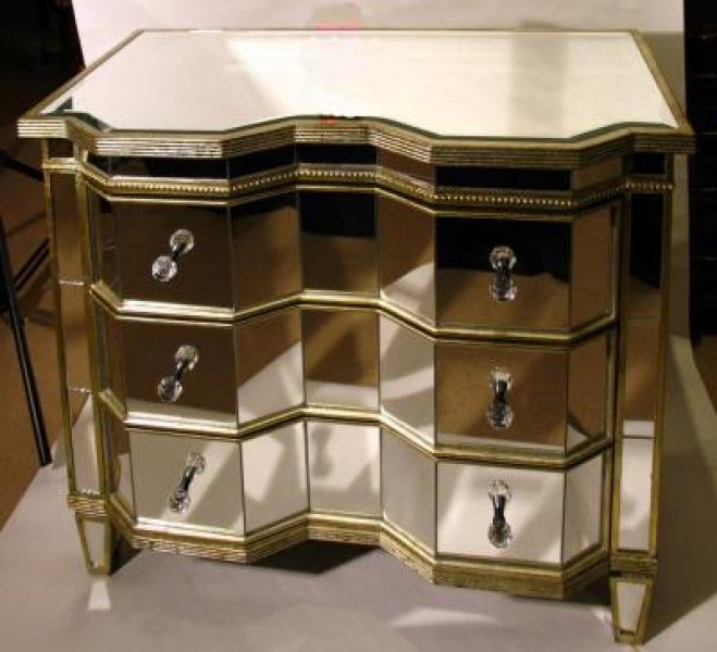 stunning serpentine art deco mirrored commode chest art deco mirrored furniture