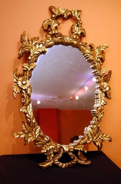 Stunning italian baroque gilded oval mirror ref no 00494 for Mirror 900 x 600