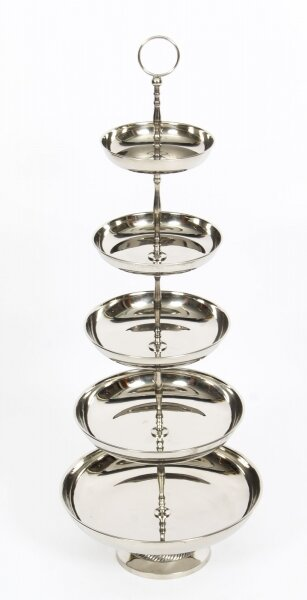 Vintage Silver Plated Cake / Confectionary Stand 20th Century | Ref. no. 00589a | Regent Antiques