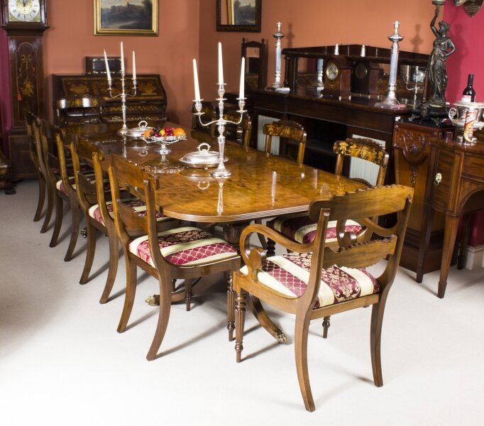 Regency Style Dining Table & 10 Chairs Set | Ref. no. 00952ca | Regent Antiques