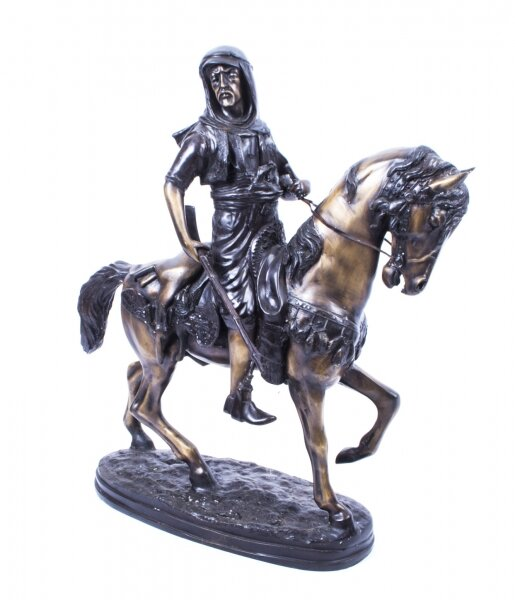 Bronze Statue of Bedouin Warrior Horseman | Ref. no. 01277 | Regent Antiques