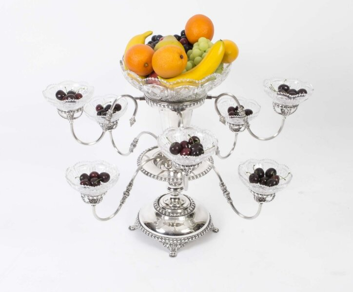 Silver plate epergne centrepiece | Ref. no. 01362 | Regent Antiques