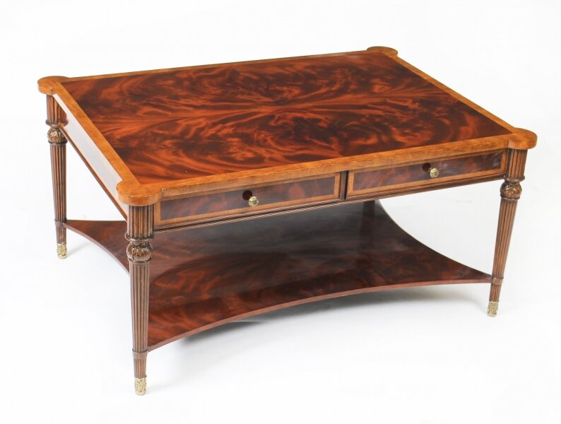 Elegant Flame Mahogany Coffee Table With Four Drawers 20th C | Ref. no. 01410M | Regent Antiques