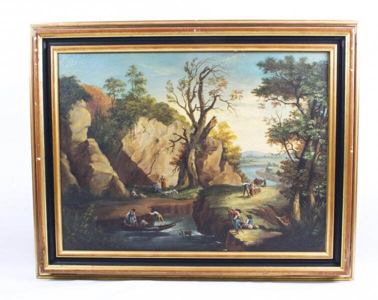Antique Painting Rocky Landscape XVIII Century | Ref. no. 01729 | Regent Antiques