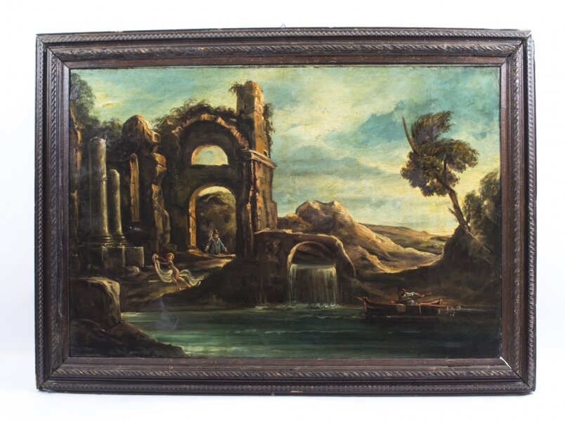 Antique Oil Painting Landscape Ruins c.1910 | Ref. no. 01748a | Regent Antiques