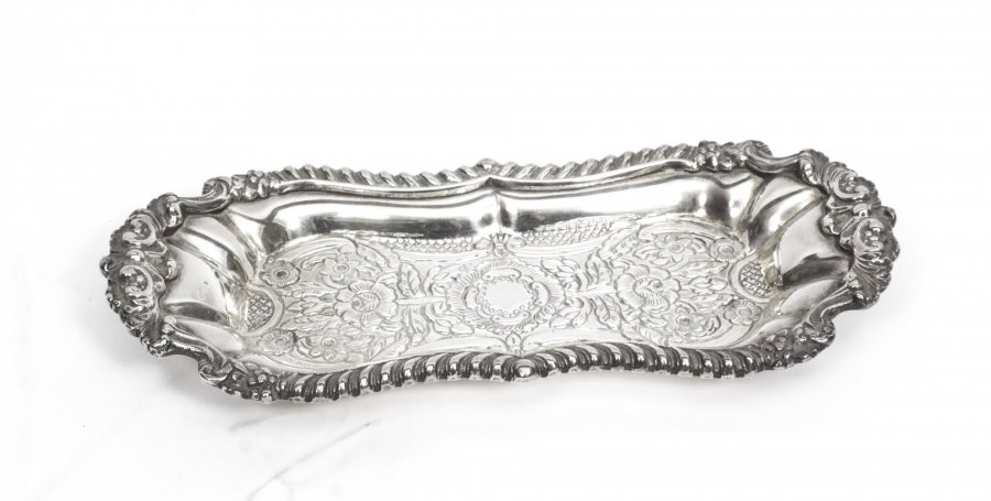 Gorgeous Silver Plated Victorian Pen Card Tray | Ref. no. 01866 | Regent Antiques