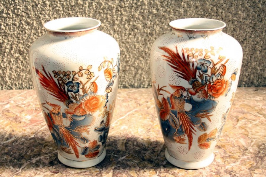 Pair Japanese Imari Hand Painted Porcelain Vases | Ref. no. 02091 | Regent Antiques