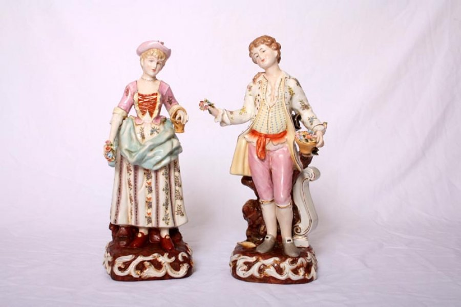 Lovely Pair Dresden Style Classical Porcelain Figures | Ref. no. 02535 | Regent Antiques