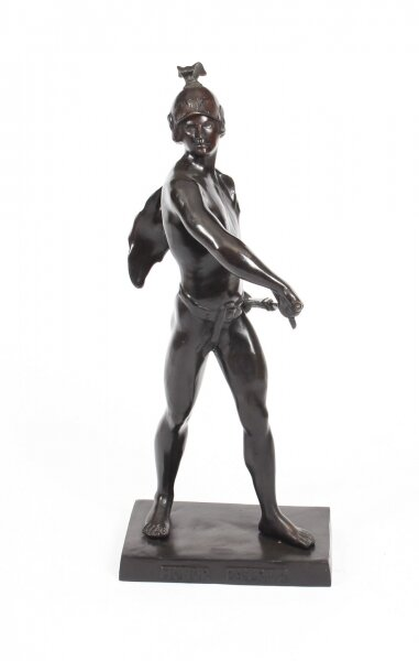 "Vintage 32 inch Bronze Mythological Warrior ""Honor Patria"" After Picault 20th C 