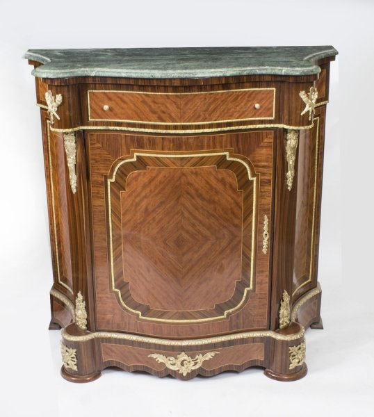 Beautiful Mahogany & Rosewood Serpentine Side Cabinet 20thC | Ref. no. 02722a | Regent Antiques