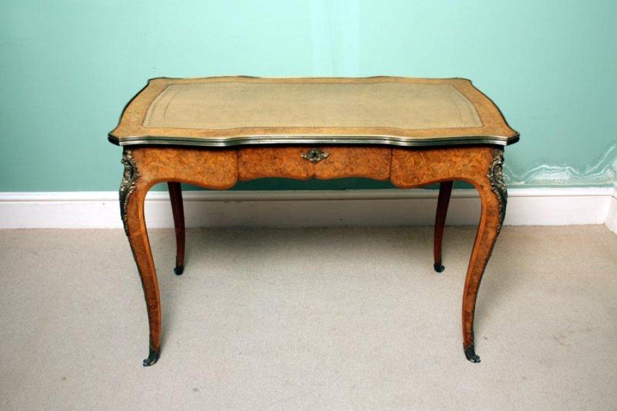 Ref:02777 - Antique English Writing Table Desk Bureau Plat C.1870 - Antique - Antique English Writing Desk Antique Furniture