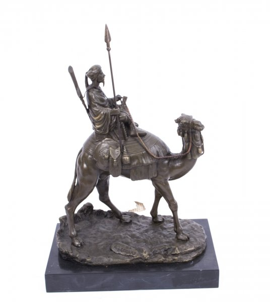 Bedouin Warrior on a Camel Bronze Sculpture|Bronze Sculpture of a Bedouin Warrior| | Ref. no. 02900 | Regent Antiques