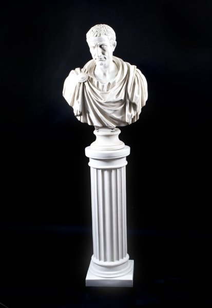 Stunning Marble Bust of Lucius Junius Brutus on Pedestal | Ref. no. 02947a | Regent Antiques