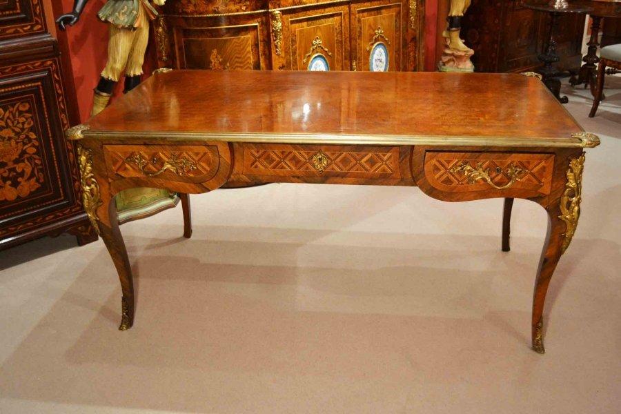 Antique french writing table desk bureau plat c ref no