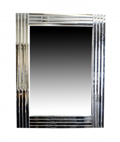 Beautiful and Ultra Chic Rectangular Art Deco Mirror 90 x 70 cm | Ref. no. 03398 | Regent Antiques