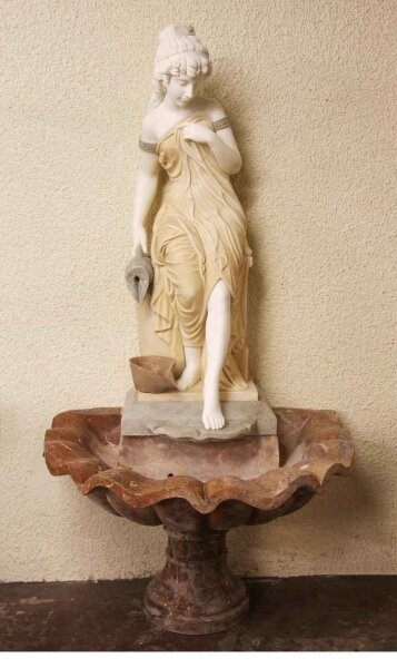 Stunning Solid Marble Classical Maiden Fountain Statue | Ref. no. 03668 | Regent Antiques