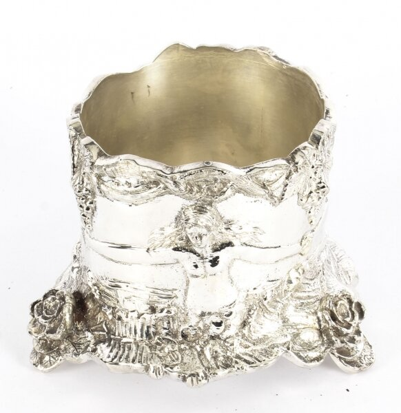 Vintage  Silver Plated Art Nouveau Revival Wine Coaster 20th Century | Ref. no. 03781b | Regent Antiques