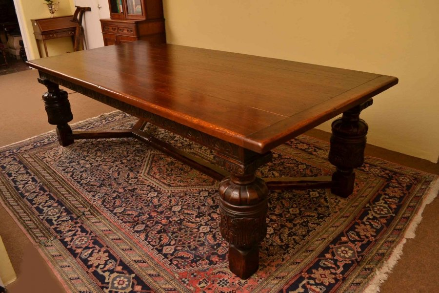 harrods large solid oak refectory table