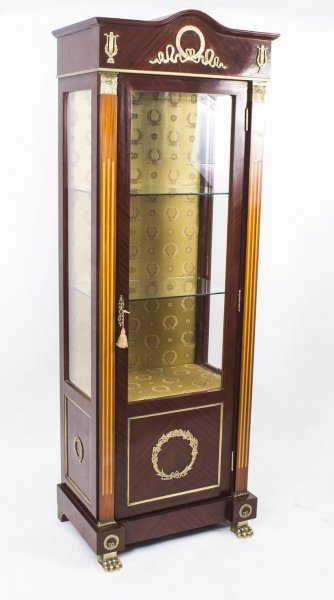 French Empire Style Mahogany Display Cabinet | Ref. no. 04156 | Regent Antiques