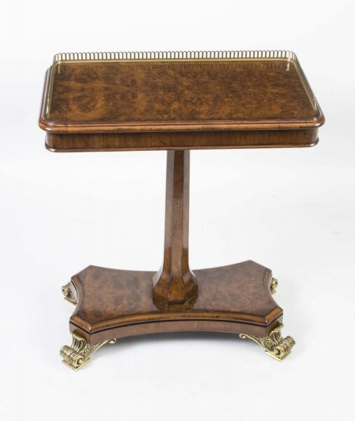 Bespoke Regency Style Burr Walnut Occasional Side End Table | Ref. no. 04173 | Regent Antiques