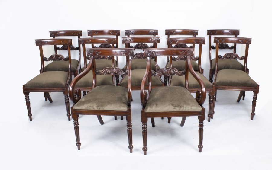Set 12 Bar Back Dining Chairs | Ref. no. 04232g | Regent Antiques